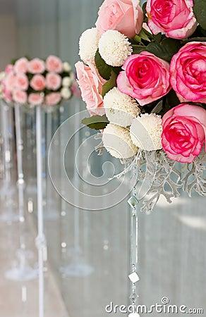 Wedding rose flowers bucket