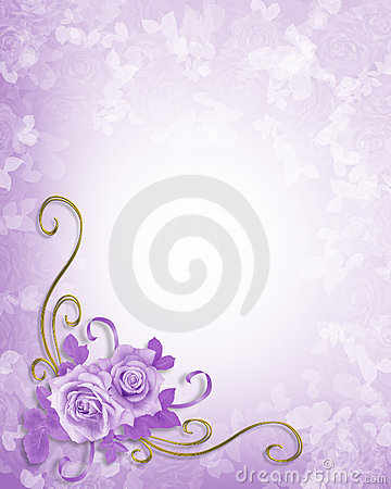 Free Wedding Roses Lavender Background Stock Photography - 6407802