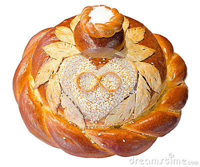 Wedding round bread