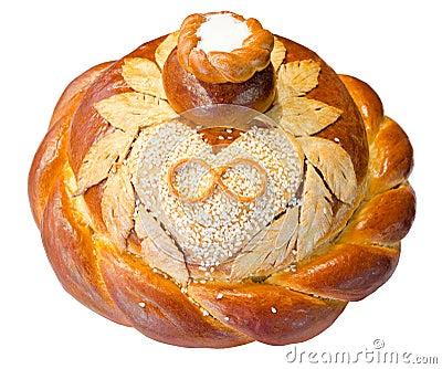 Wedding round bread