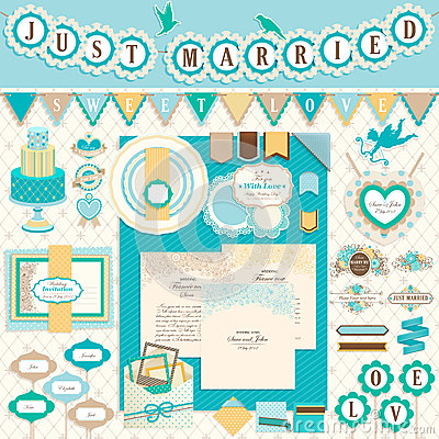 Free Wedding`s Day Scrapbook Elements Stock Images - 24902194