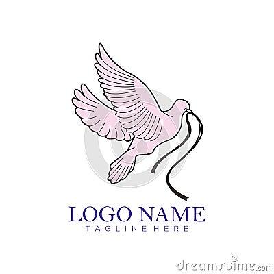Wedding service logo and icon Stock Photo