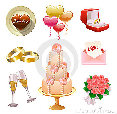 Free Wedding Set Royalty Free Stock Image - 17649356
