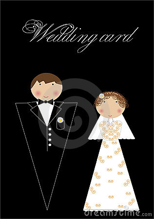 Wedding set for greeting card