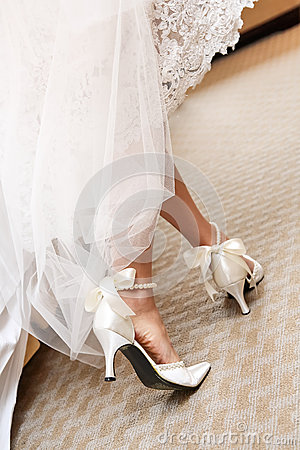 Free Wedding Shoes Stock Photography - 29199502