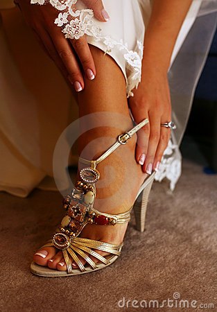 Free Wedding Shoes Royalty Free Stock Images - 3653609