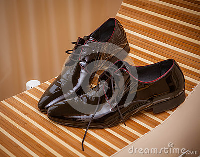 Wedding shoes of the groom