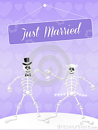 Wedding of skeletons