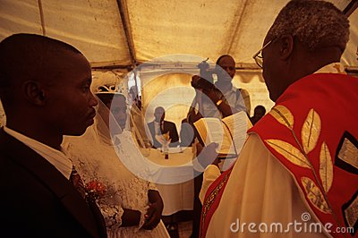 A wedding in South Africa. Editorial Photo