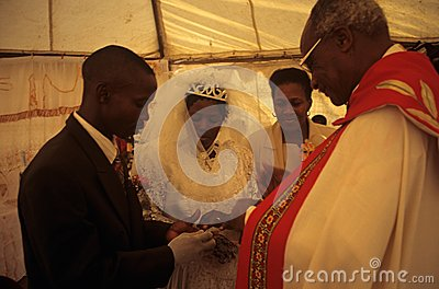 A wedding in South Africa. Editorial Photography