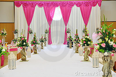 Indian Wedding Decoration On Stock Images Stage Image 16648204