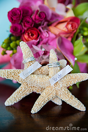 Free Wedding Starfish Stock Photography - 25157272