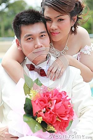Wedding suit of couple