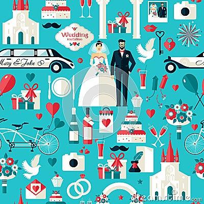 Free Wedding Symbols Set. Stock Photography - 57886992