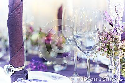 Wedding table closeup