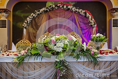 Wedding table groom and bride royalty free stock photo image
