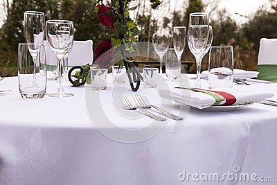 Wedding table setting 3