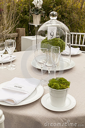 Wedding table setting 8