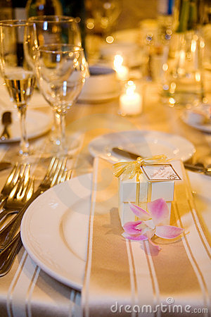 Wedding Table Setting and favour