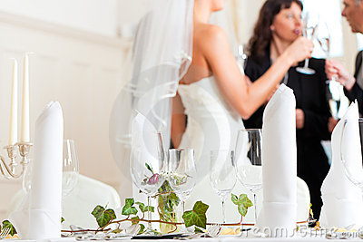 Wedding table at a wedding feast