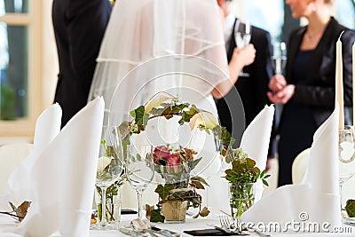 Wedding table at a wedding feast