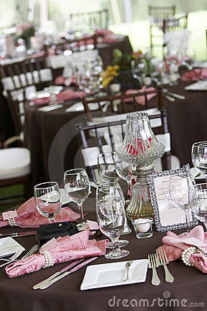 Free Wedding Tables Set For Fine Dining Royalty Free Stock Photo - 1571065