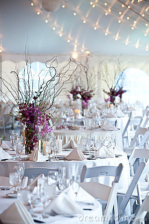 Wedding tables under a tent