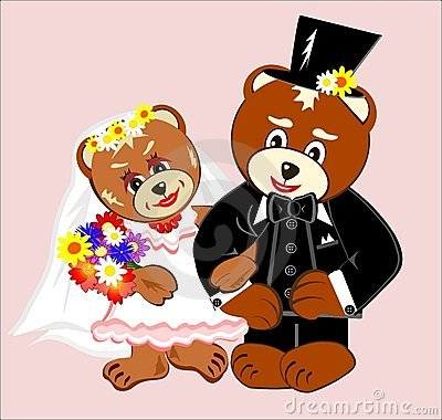 Free Wedding Teddy Bears Stock Images - 15271484