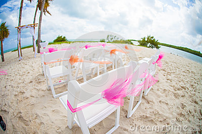 Wedding on tropical beach
