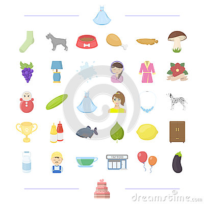 Wedding, vegetable and other web icon in cartoon style. profession, animal, breed icons in set collection. Vector Illustration