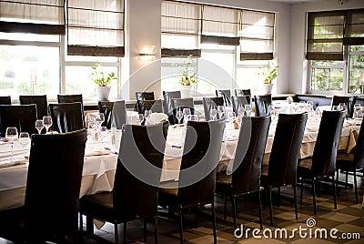 Wedding venue dinner table