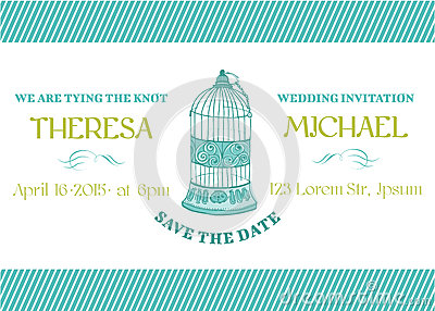 Wedding Vintage Invitation Card