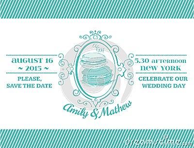 Wedding Vintage Invitation Card