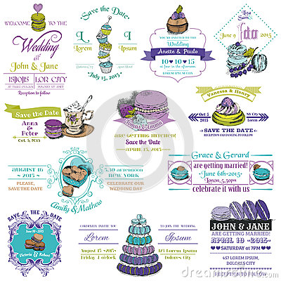 Vintage Invitation Collection - Dessert and Macaroon Theme - in