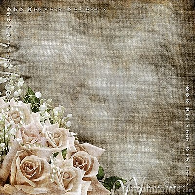 wedding vintage romantic background with roses stock. Black Bedroom Furniture Sets. Home Design Ideas