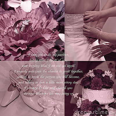 Nature Wedding Vows on Wedding Vows Background  Click Image To Zoom