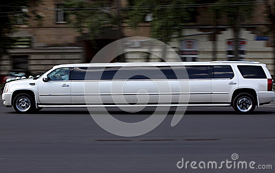 Wedding White Luxury Long Car Stock Image Image 27282011
