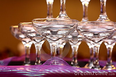 Wedding Party Wine Glasses on Royalty Free Stock Images  Wedding Wine Glasses  Image  11890529