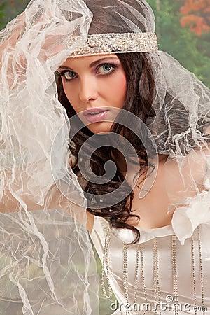 Wedding woman portrait