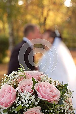 Weddings flowers , fiancee and fiance
