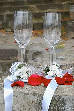 Weddings glasses for champagne