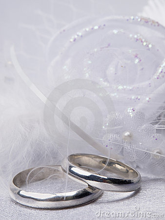Weddings rings and floral  decoration