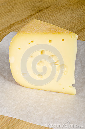 Free Wedge Of Cheese With Holes 2 Stock Image - 28505141