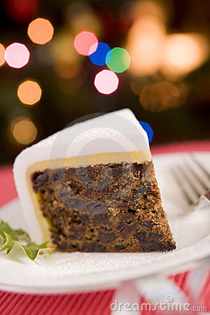 Free Wedge Of Christmas Cake Stock Image - 5607551