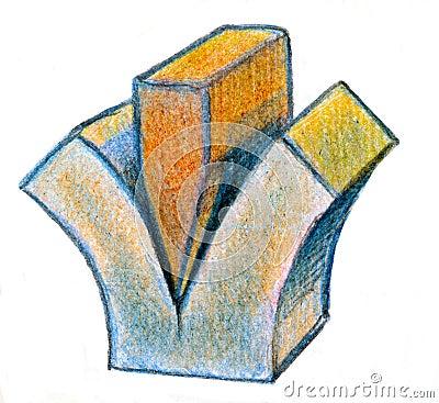 Wedge splitting cube
