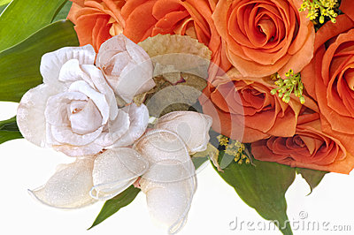 Weeding Favors and orange roses