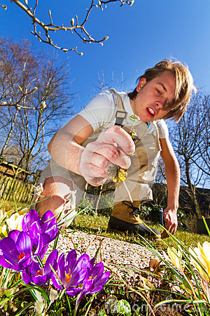 Free Weeding The Spring Garden Stock Photos - 30319033