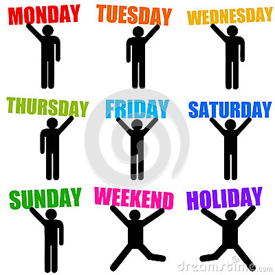 Free Week Days Stock Images - 28967944
