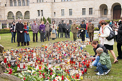 Week of mourning in Poland Editorial Image