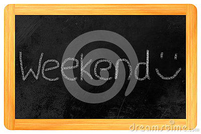 Weekend on a blackboard